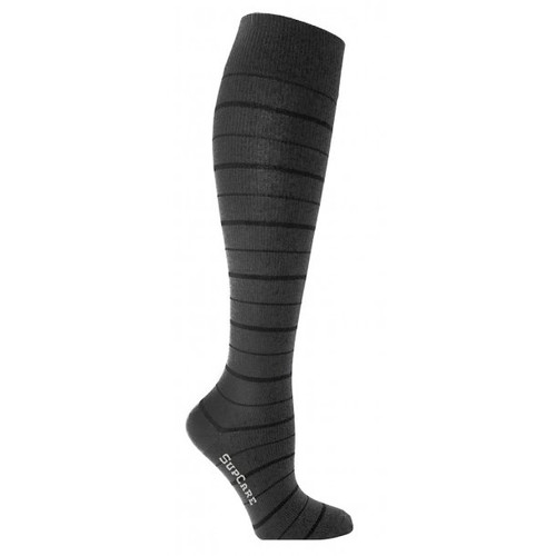 Black Striped Compression Flight Stockings Socks (Bamboo Fibers)