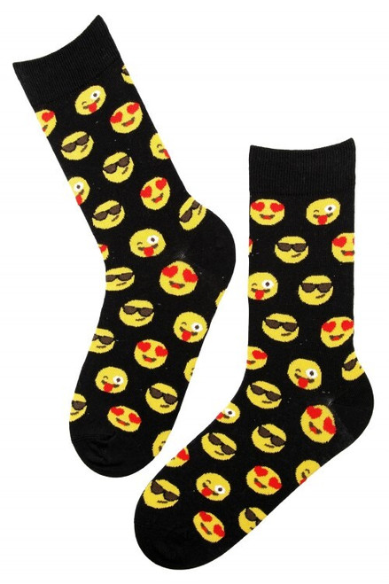 mens smiley emoji socks
