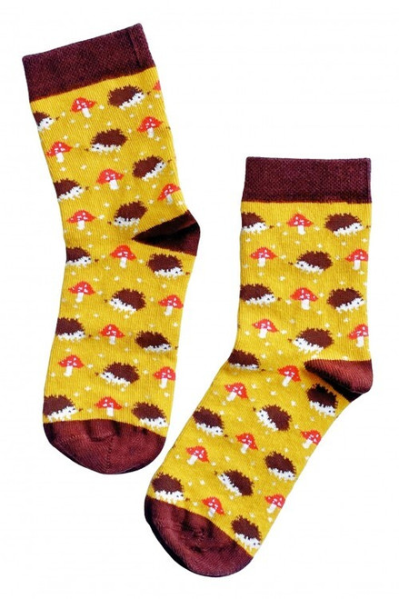 Children's Hedgehog Socks (Pair) Fun Novelty Kids Animal Socks
