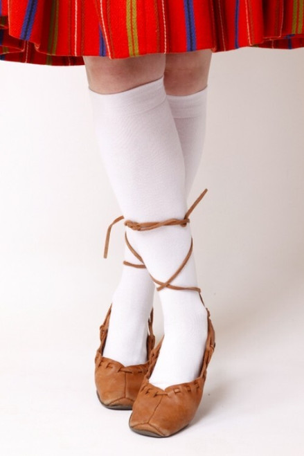 White Cottom Knee-High Socks (Pair)
