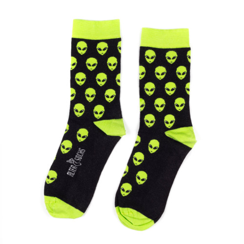Alien Socks - Men's and Women's Space Alien Socks  UK