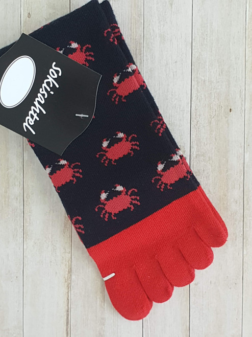 womens crab print socks