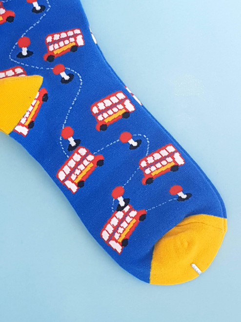Women's London Buses Socks (Pair) Bus Print