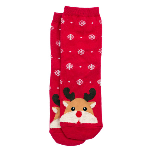 Women's Reindeer Socks (Pair) Christmas Novelty socks