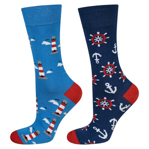 Men's Lighthouse Socks (Pair) Nautical Print