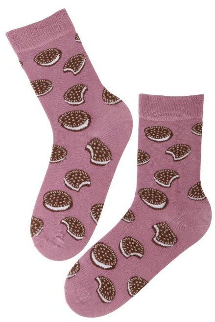Women's Biscuit Socks (Pair) - Novelty Food Socks Oreo Style