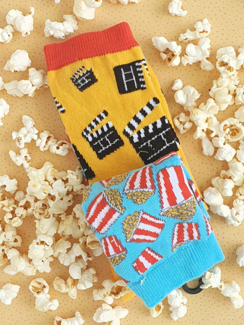 Men and Women's Cinema Popcorn Socks (Pair)
