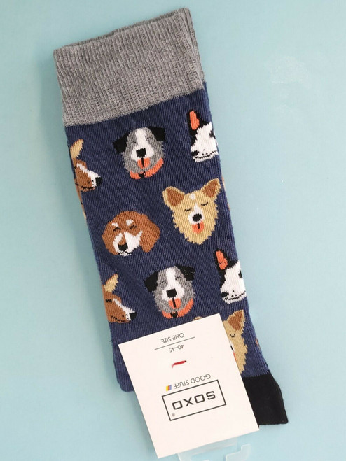 men's Dog Socks (Pair) Novelty Animal Socks
