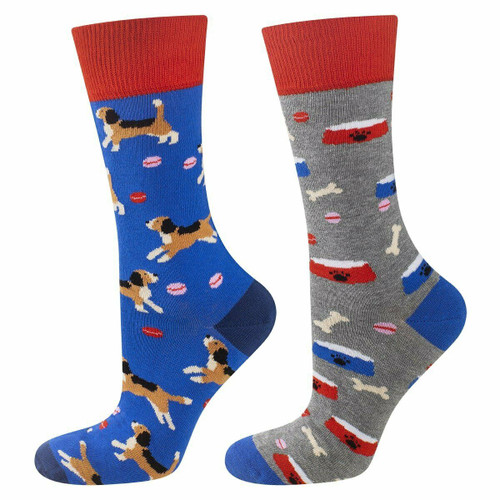 Men's Dog Socks (Pair) Fun and colourful Animal Socks