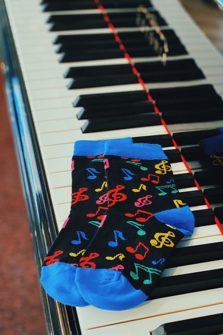 Childrens Colourful Music Socks (1 Pair)