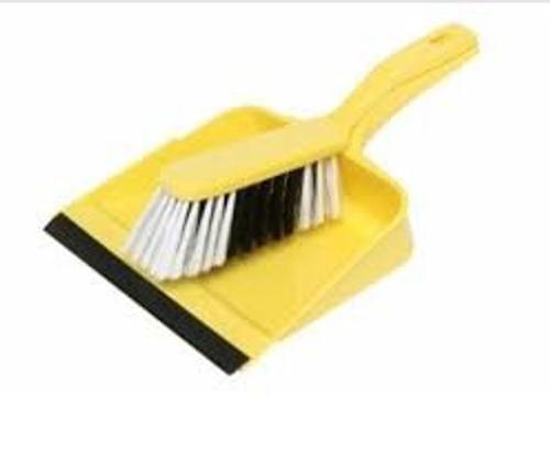 Dustpan and Brush Set Yellow