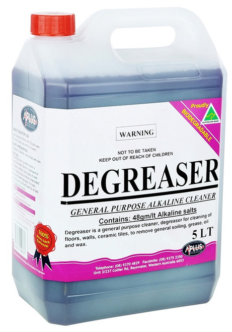 Degreaser 5ltr (Hot plates stainless steel canopy hoods, marine equipment )