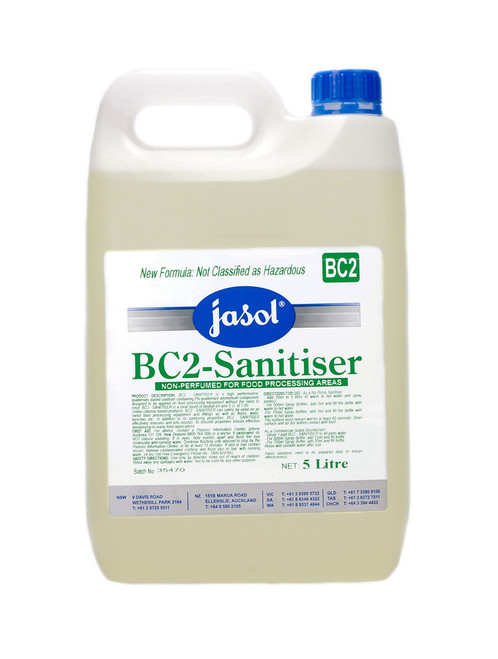 BC2 Sanitiser 5ltr (Food areas all surfaces and floors)