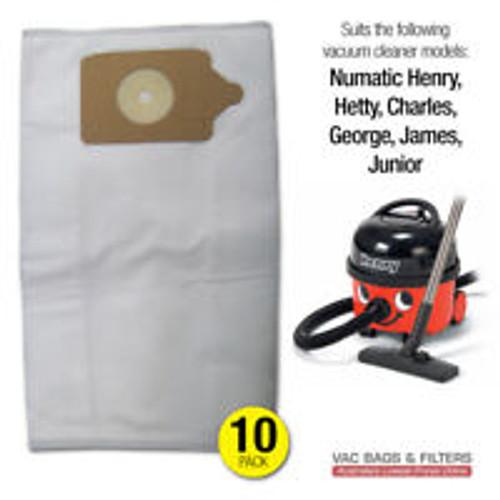 Vacuum Bag - Numatic 10 Pk (Henry, Hetty, Junior