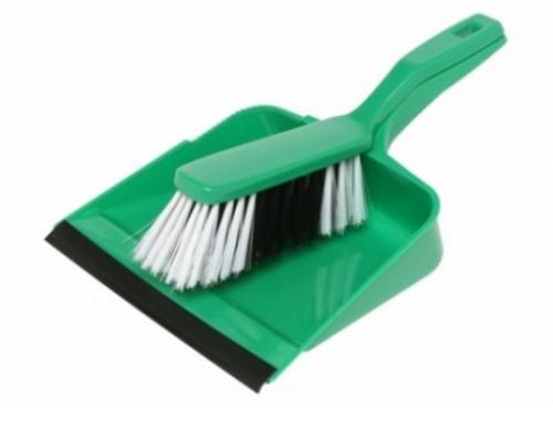 Dustpan and Brush Set Green