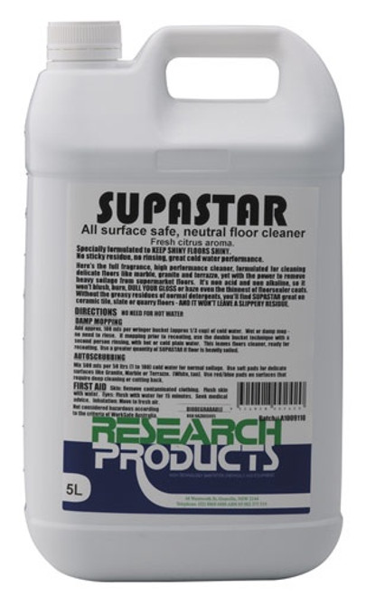 Supastar for wood , Marble , Spray & wipe / Mopping  5Ltr
