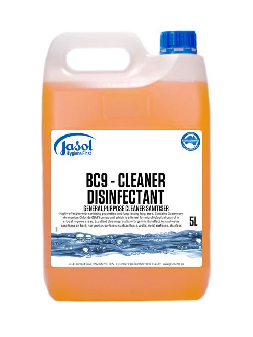 BC9 Disinfectant & Cleaner Mandarin Orange Fragrance 5L