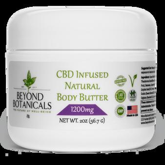 CBD Natural Body Butter - 1200mg