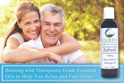 Refresh CBD massage oil-10% off!