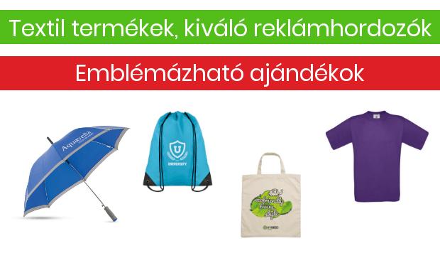 emblémázott táska esernyő bevásárlótáska és póló