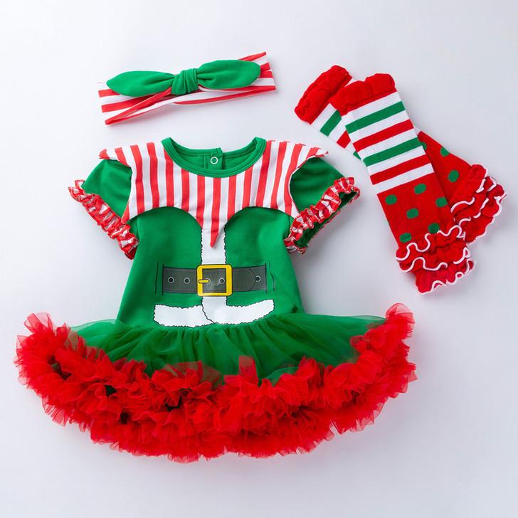 Baby 1St Christmas Elf Costume Romper
