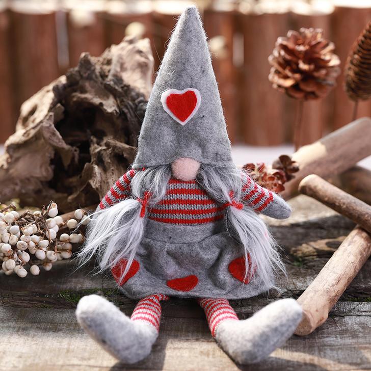 Christmas Faceless Gnome Girl