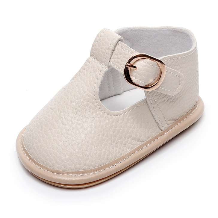 Baby Beige Shoes hard sole t-strap Sandals
