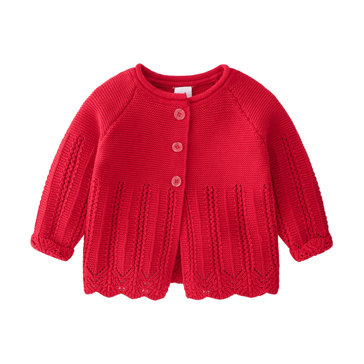 Cute Baby Princess Style Red Cardigan