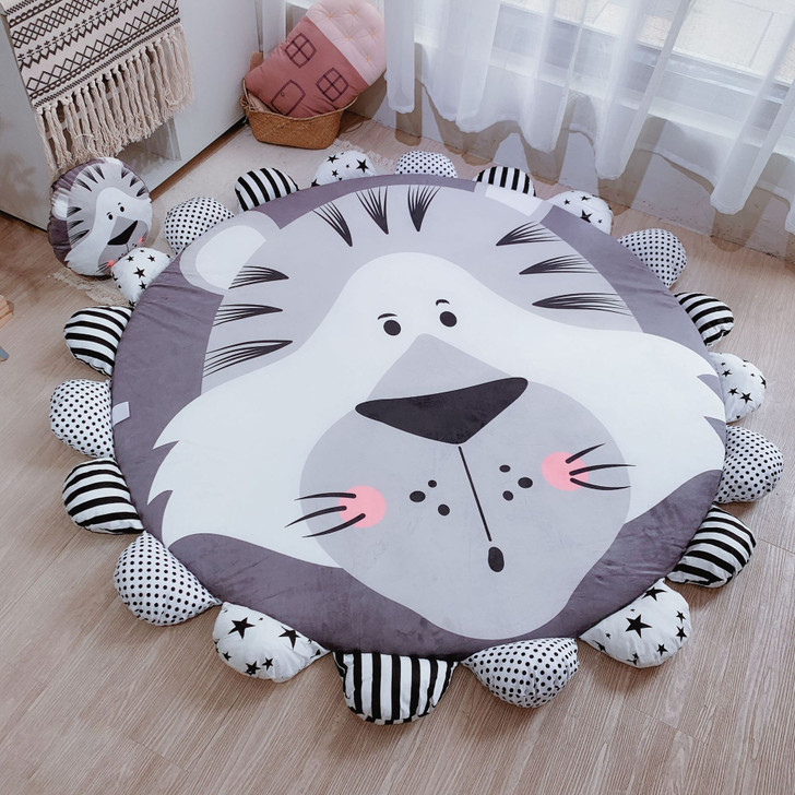 Padded Big Round Tummy Time Play-mat Tiger 145-165 cm