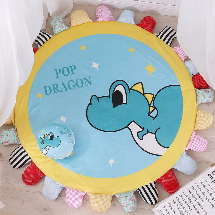 140-160 cm Dragon Padded Big Round Tummy Time Play-mat
