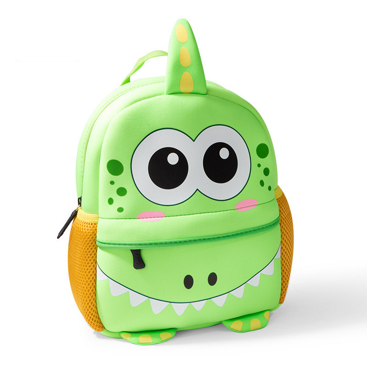 Dinosaur Toddler Waterproof Green Backpack