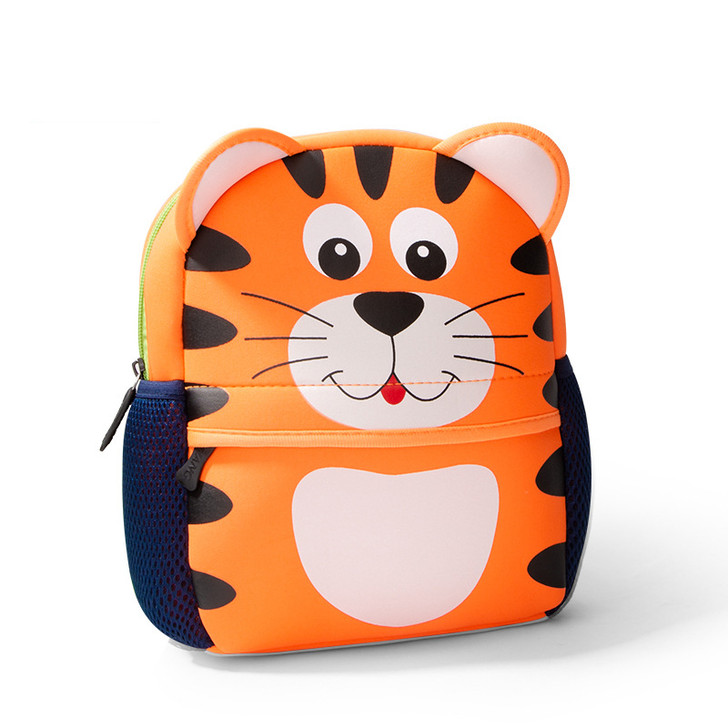Neoprene Cute Tiger School Bag for Boys Girls Pre-School Kindergarten