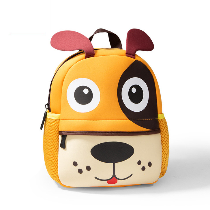 Neoprene Cute Dog School Bag for Boys Girls Pre-School Kindergarten