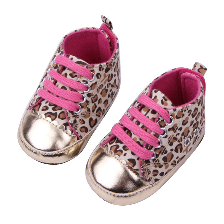 Pink Leopard Sneakers Baby Girl Shoes