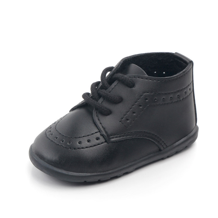 Baby Black Oxford Classic Formal Shoes