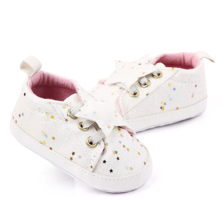 Baby White Sneakers Stars Trainers