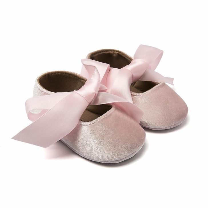 Prewalker Ballerina Pink Big Satin Bow Knot