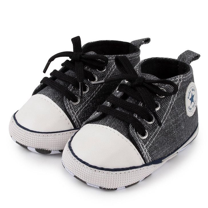 Swatch Dove Grey First Walkers Baby Sneaker