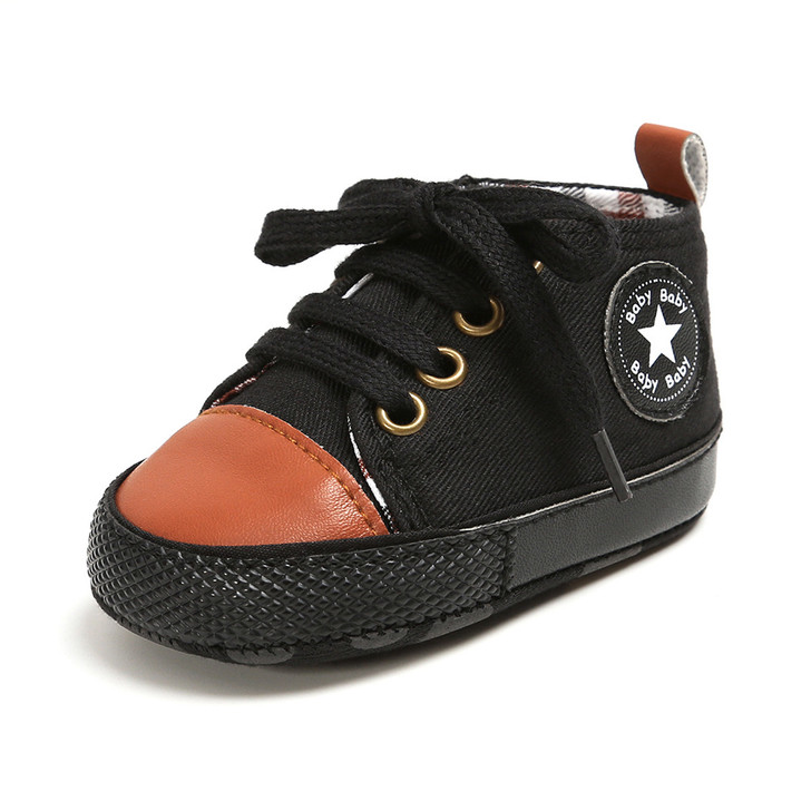Black-Cinammon First Walkers Baby Shoes