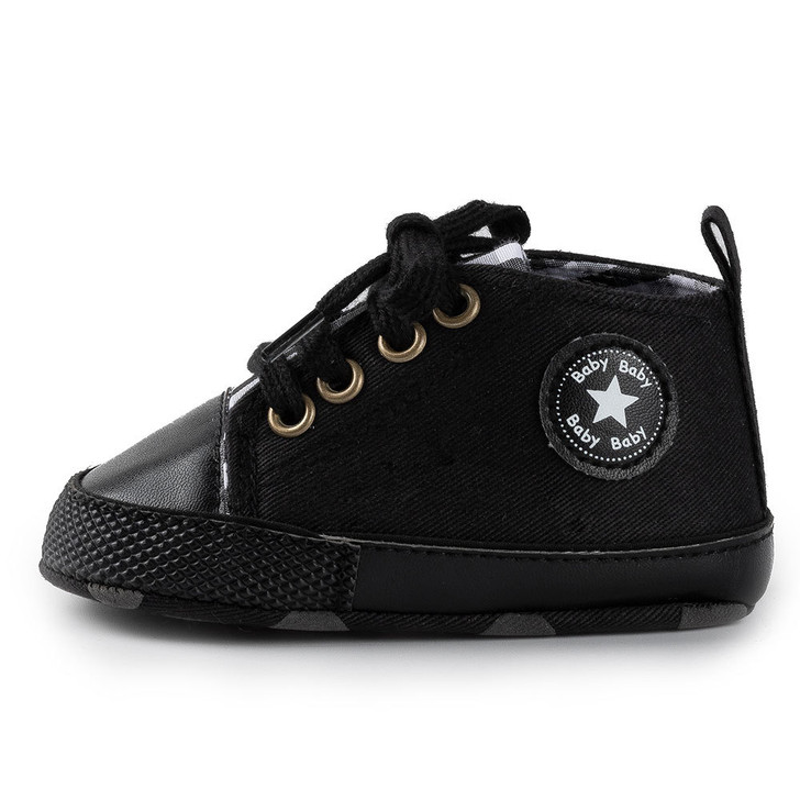 Black First Walkers Baby Shoes Sneaker