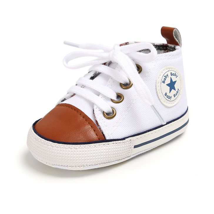 White Brown First Walkers Baby Shoes  Sneaker