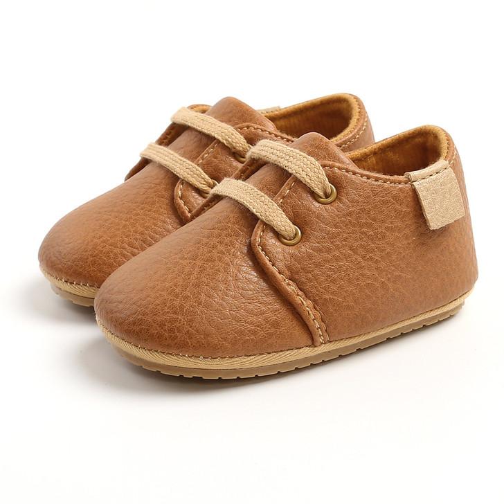 Vintage PrewalkerBronze Brown OxfordShoesPU