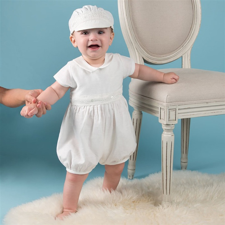 Infant Baby Boy Baptism Romper