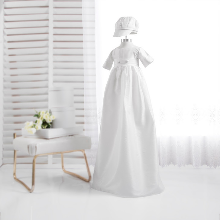 Ivory color Baby Boy Girl Gown Christening Baptism Dresses