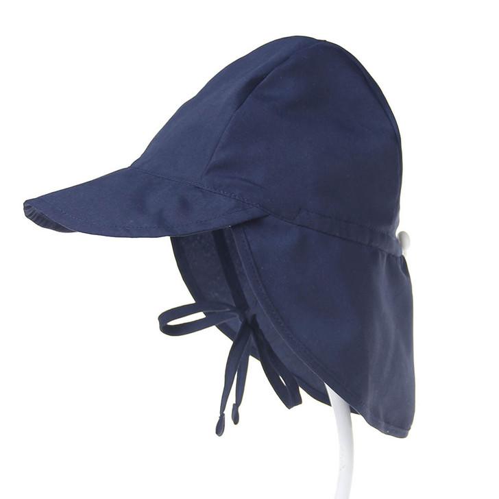 UPF50 Breathable Baby Newborn Navy Sun Hat