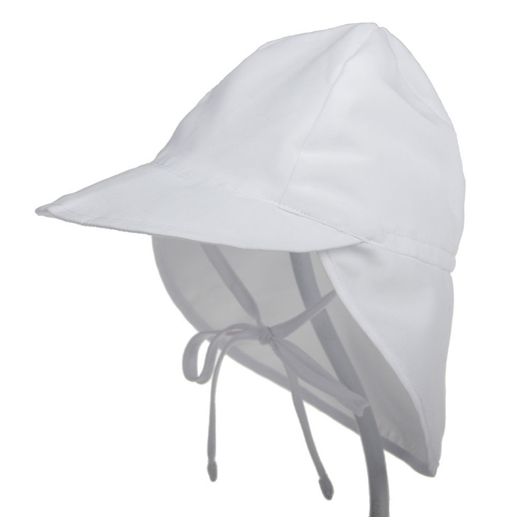 UPF50 Breathable Baby Newborn White Sun Hat