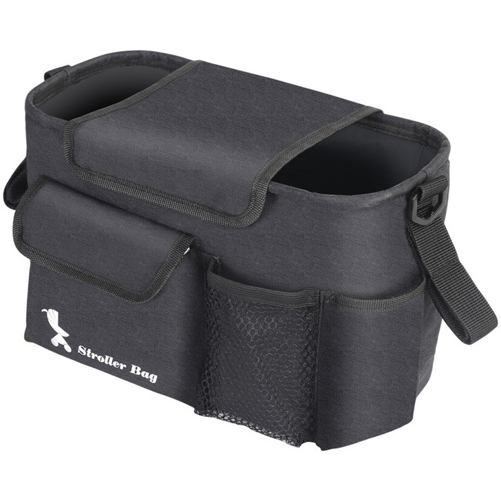 Black Baby Stroller Organizer Bag