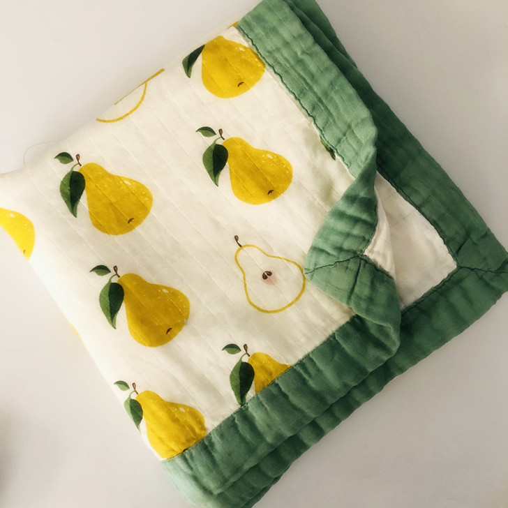 Four Layer Pearl Print Bamboo Baby Swaddling