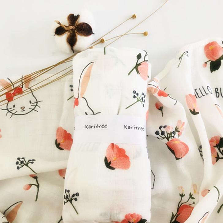 Bunny Baby Swaddle Muslin Blanket