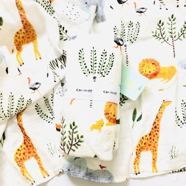 Colorful Flower Baby Swaddle Muslin Blanket